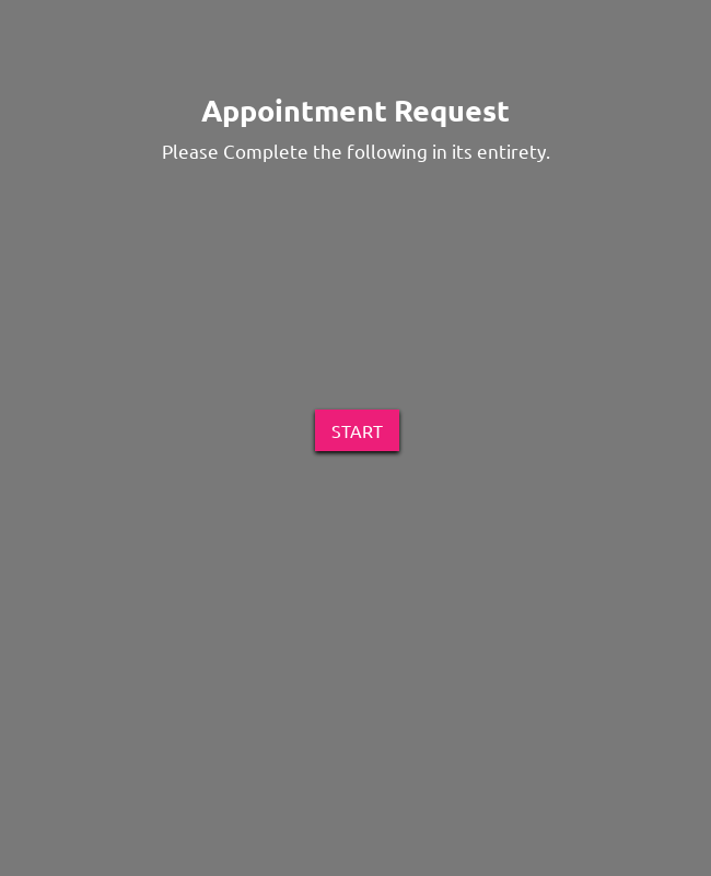 Appointment Request Form - Dark and Responsive