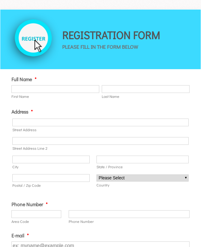 Workshop Registration Form