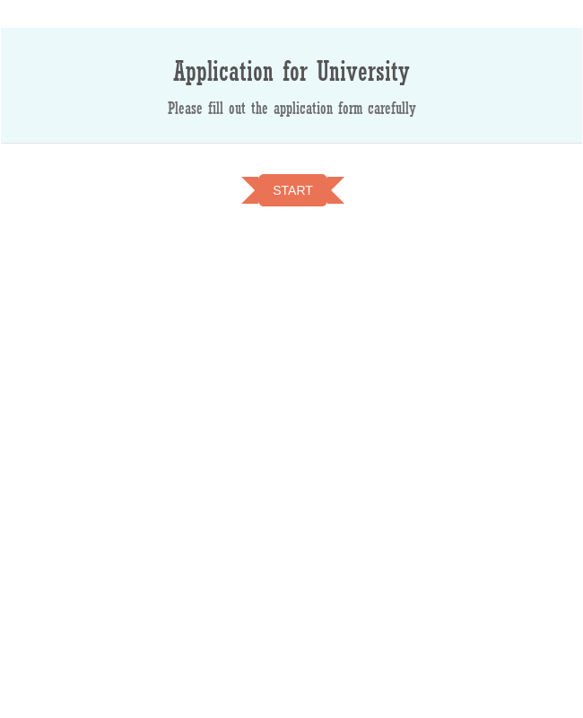 Application Form For University