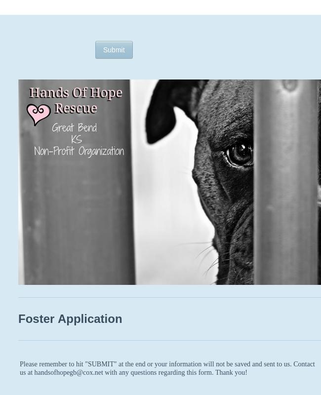Animal Adoption Application Form