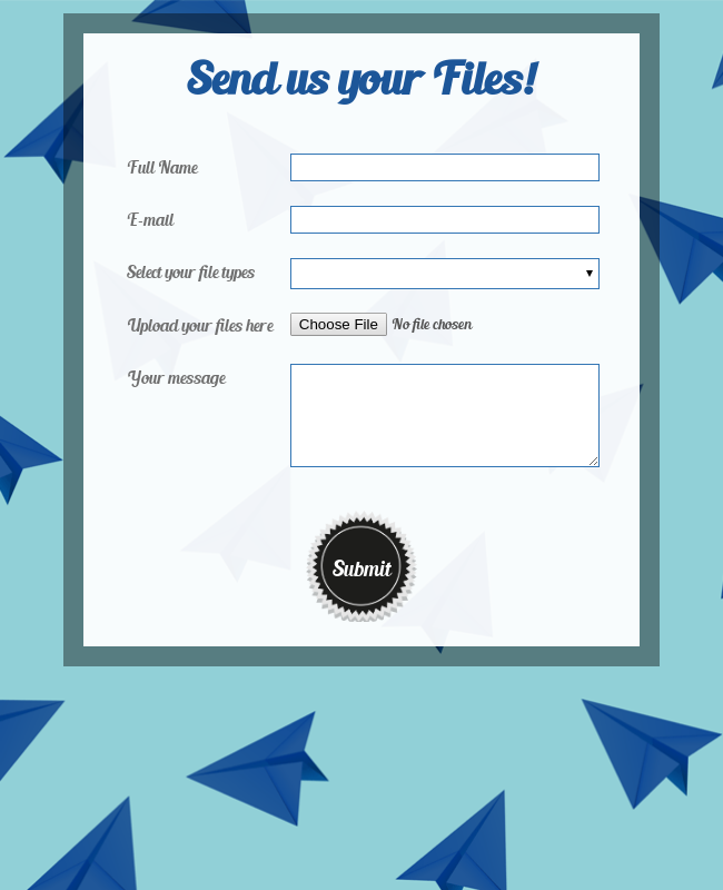 Round And Responsive File Upload Form