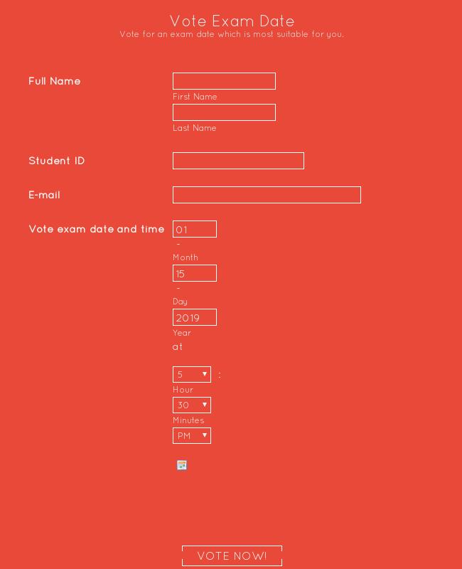 Vote Exam Date Flat Color