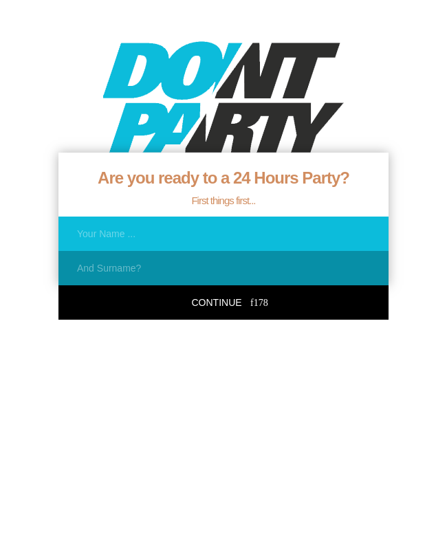 Multipage Party Time Form