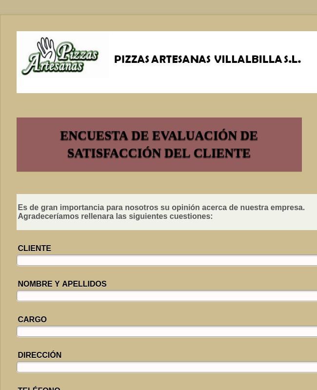 Spanish Restaurant Service Survey
