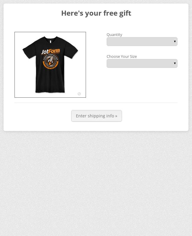 T Shirt Order Form