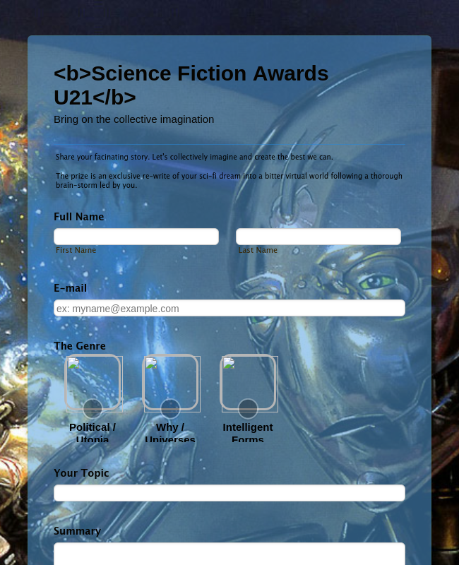 Science Fiction Awards U21
