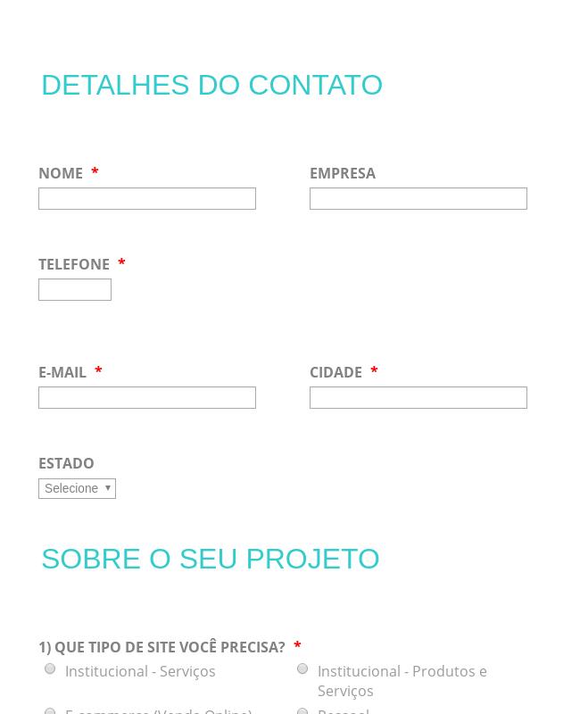 Web Design Inquiry Form