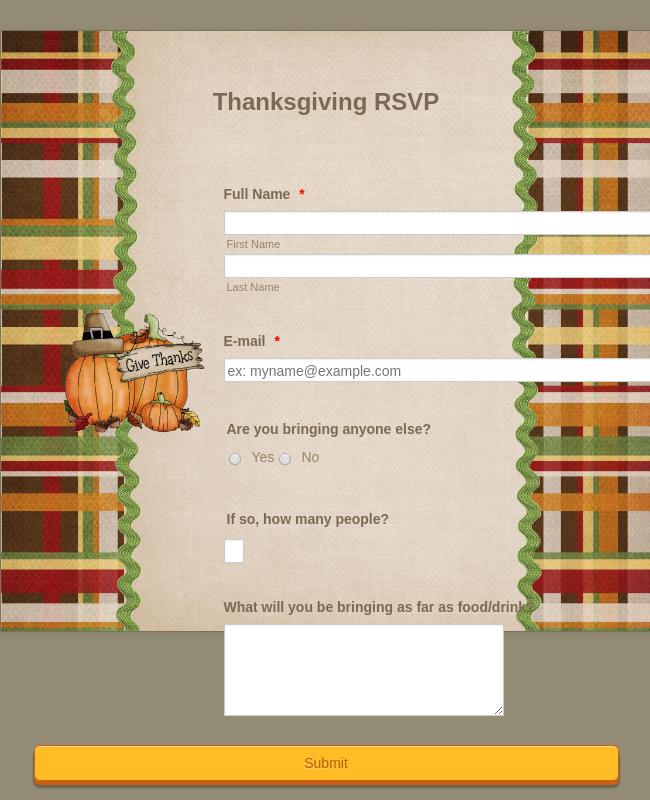 Thanksgiving RSVP