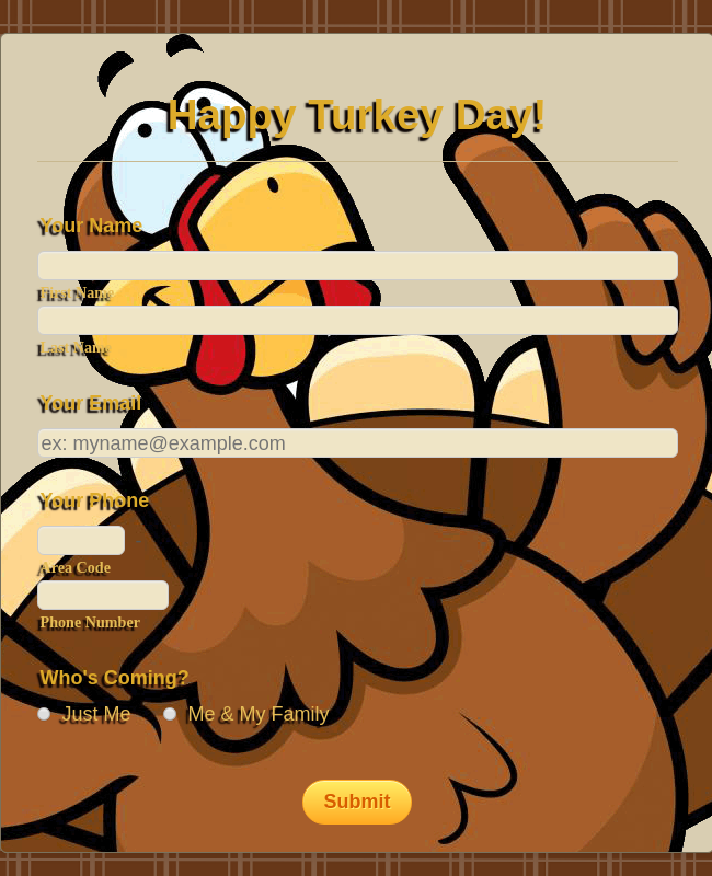 It's Turkey Day!