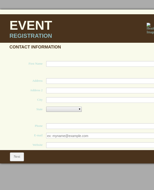 Online Event Registration
