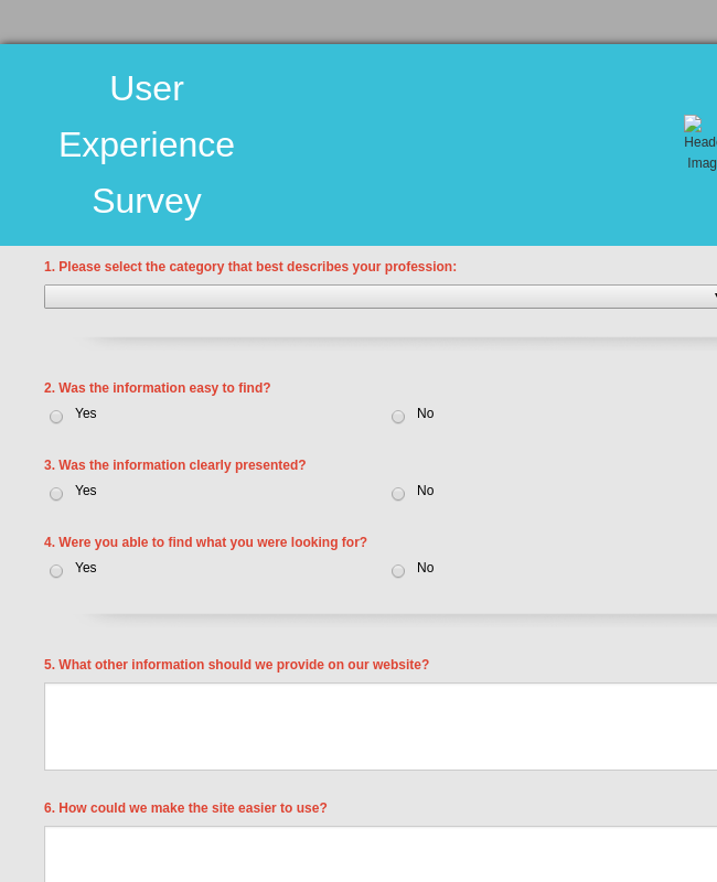 User Experience Survey