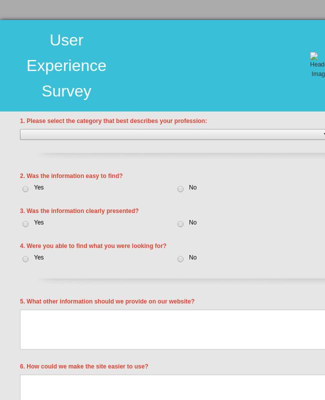 User Experience Survey
