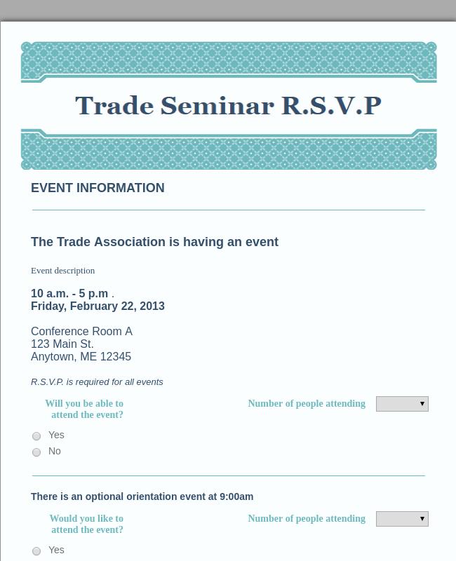Seminar RSVP