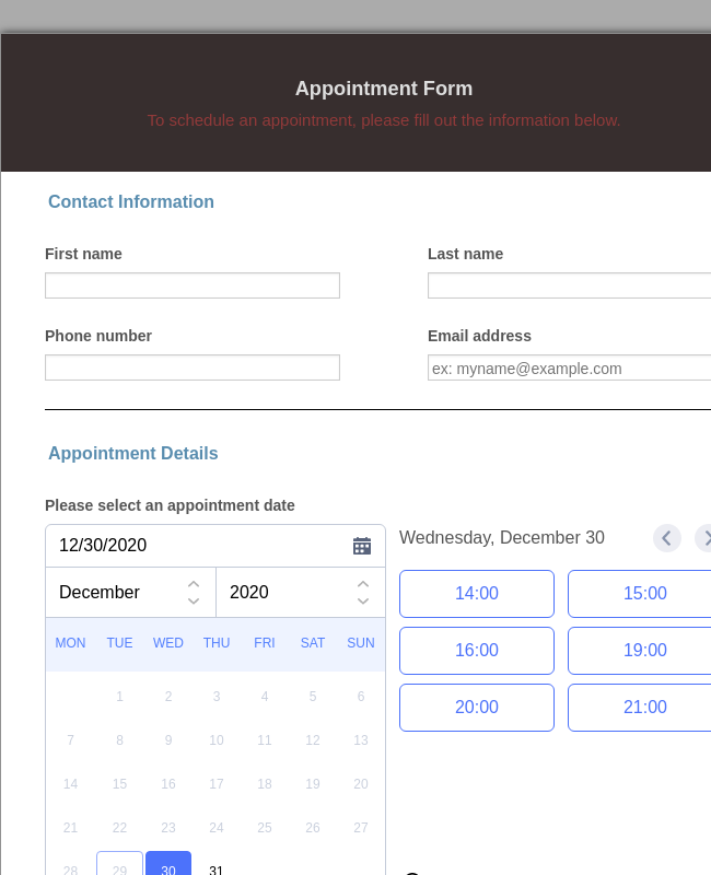 Appointment Form