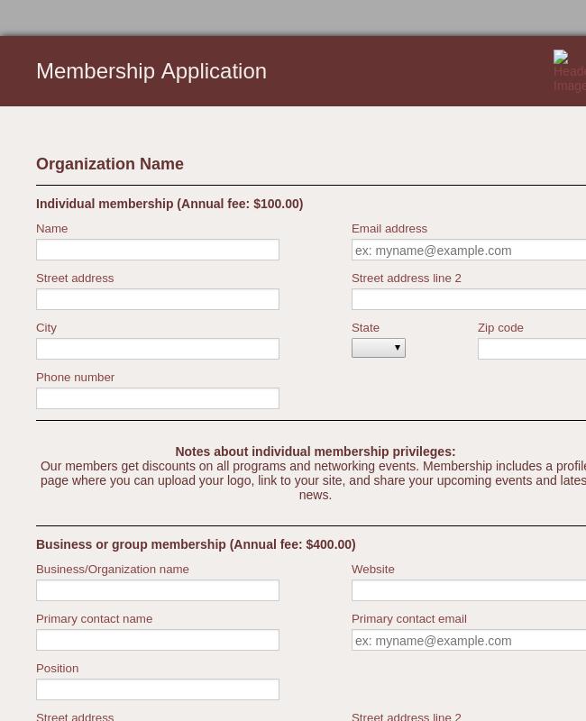 Participant Application Form