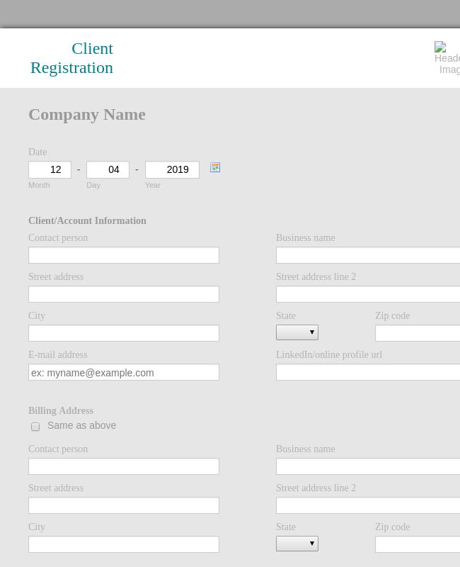 Client Registration