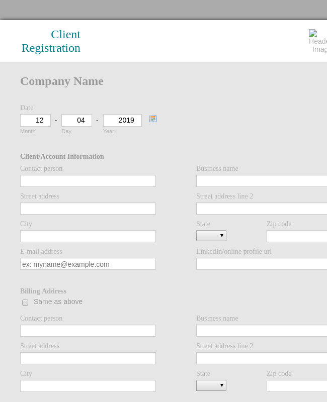 Client Registration