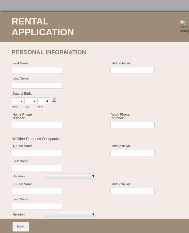 Rental Application