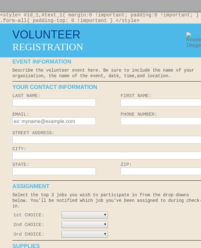 Volunteer Enrollment