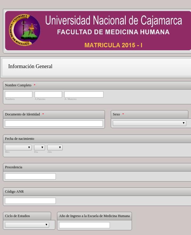 Matricula Medicina Humana