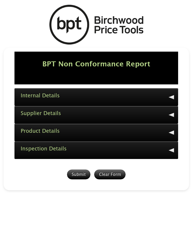 Bpt Qa Tech Non Conformance Form