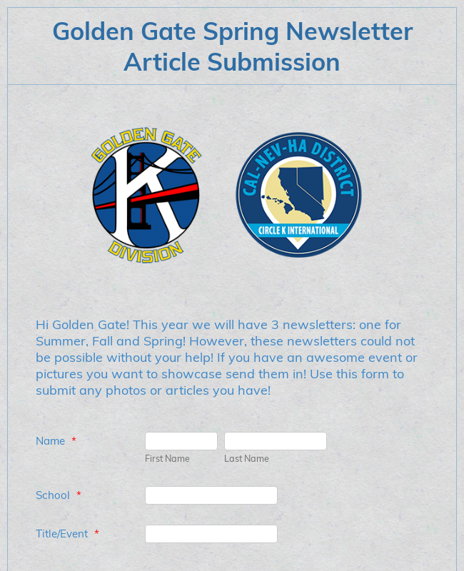 Article Submissions