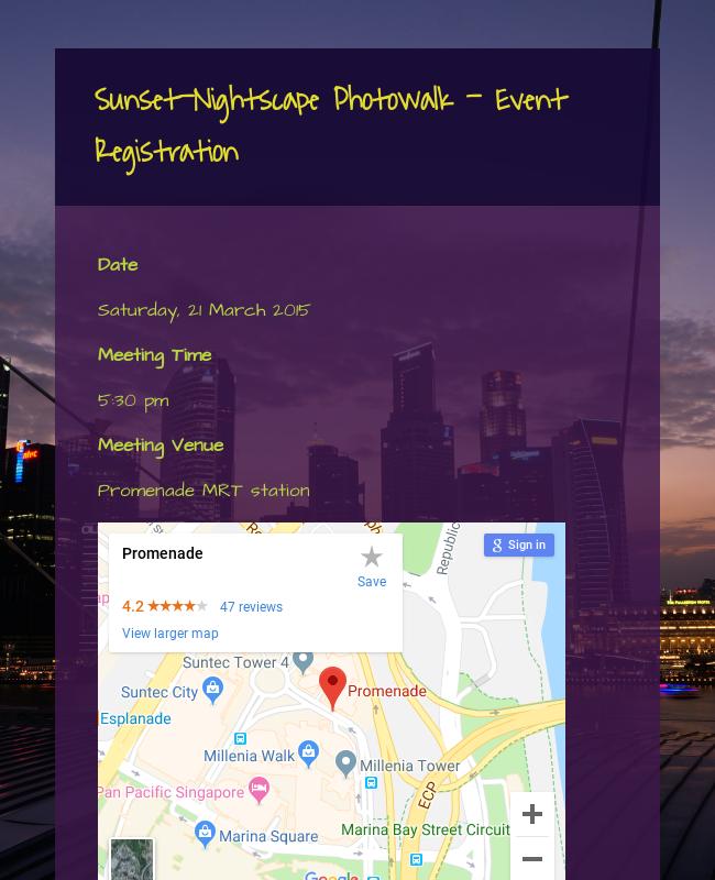 Photowalk Event Registration