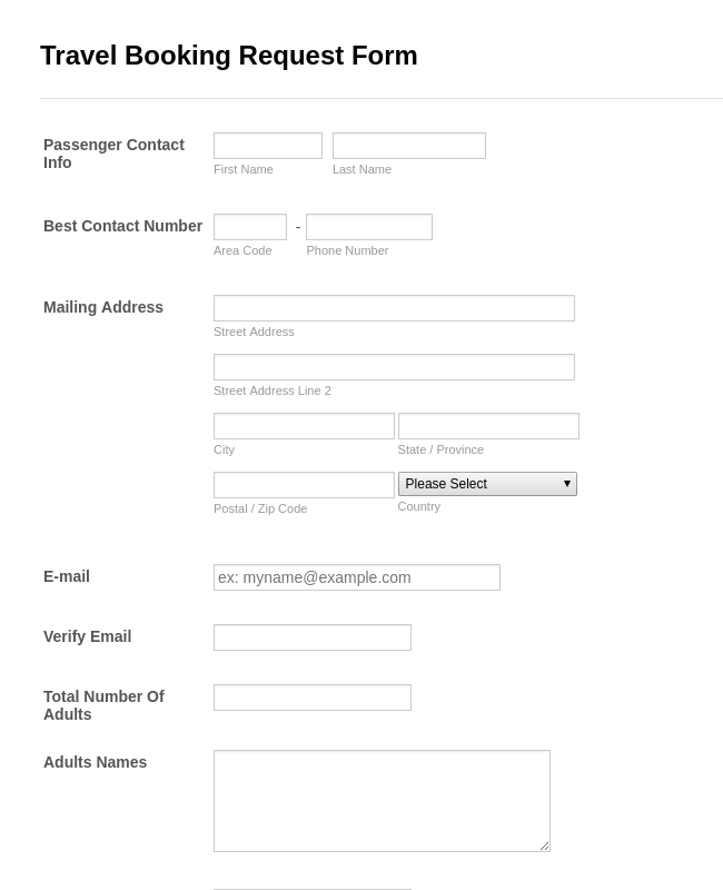 Booking Forms - Form Templates | JotForm