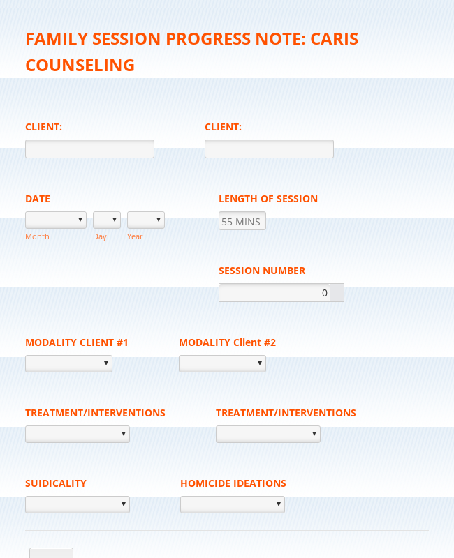 Family Counseling Progress Note Form Template Jotform