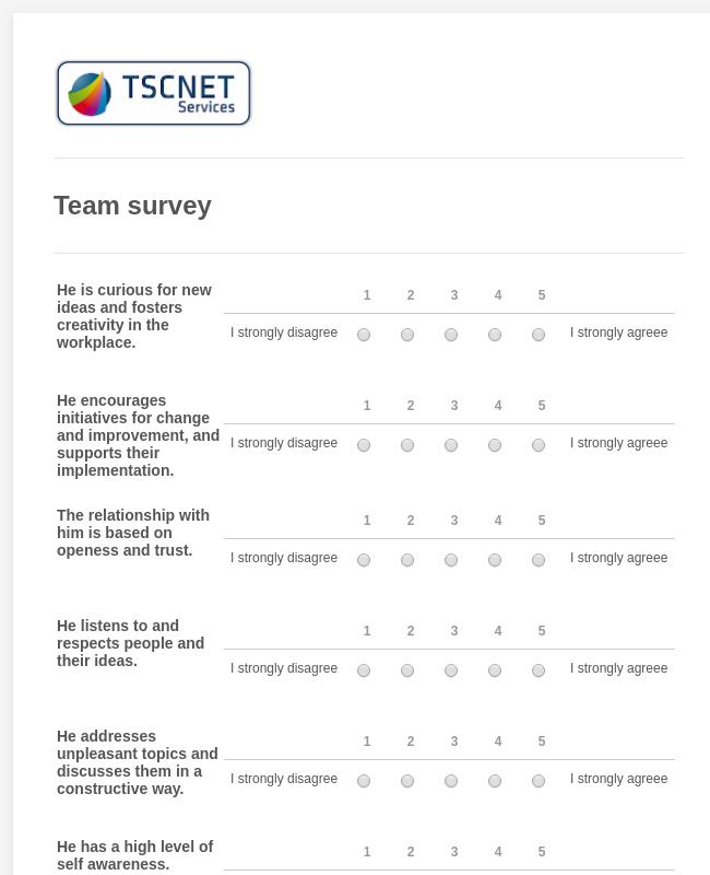 Team survey TSCNET