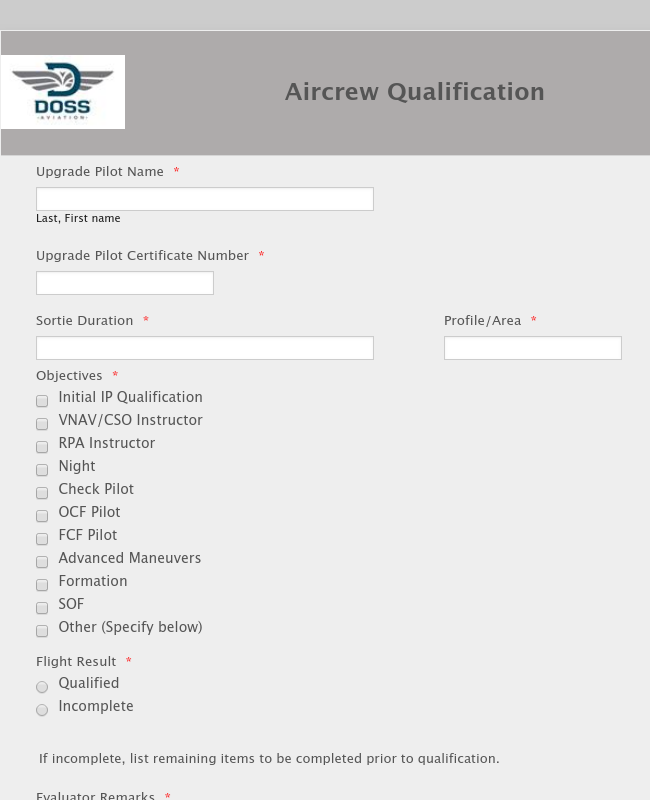 Aircrew Qualification