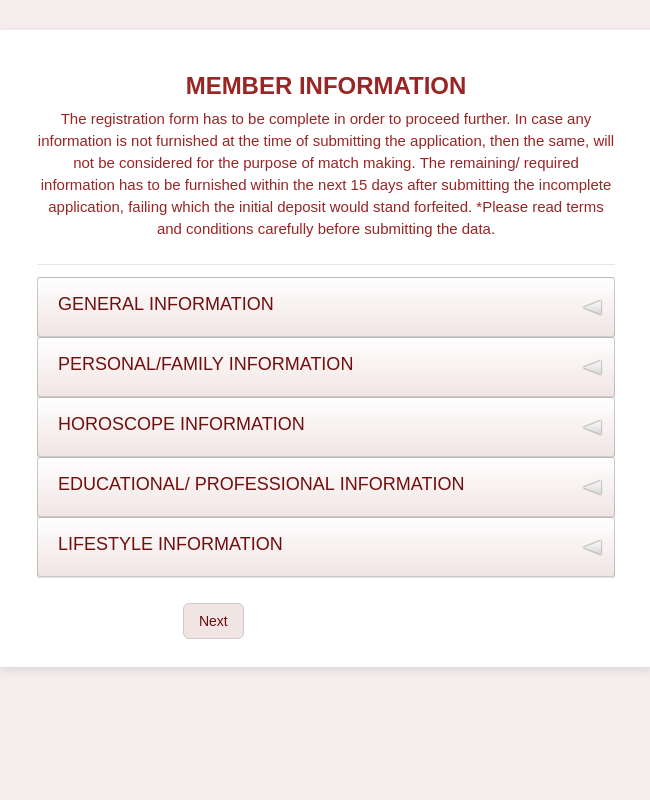 Marriage Registration Form