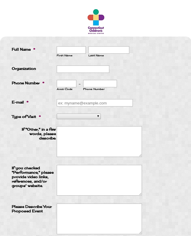 Special Visitor Request Form