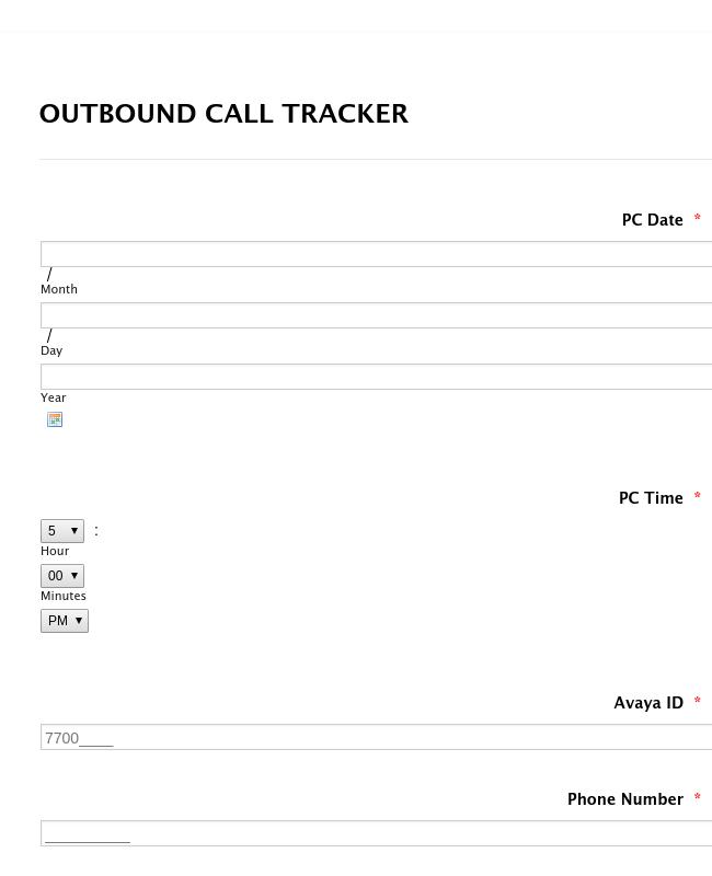 Outbound Call Tracker