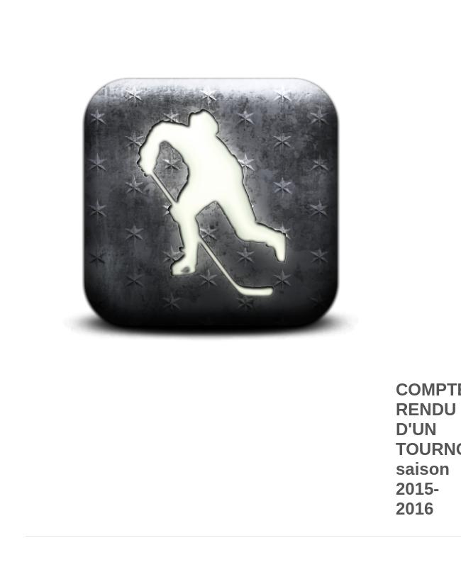 Compte Rendu D Un Tournoi Saison 2015 2016