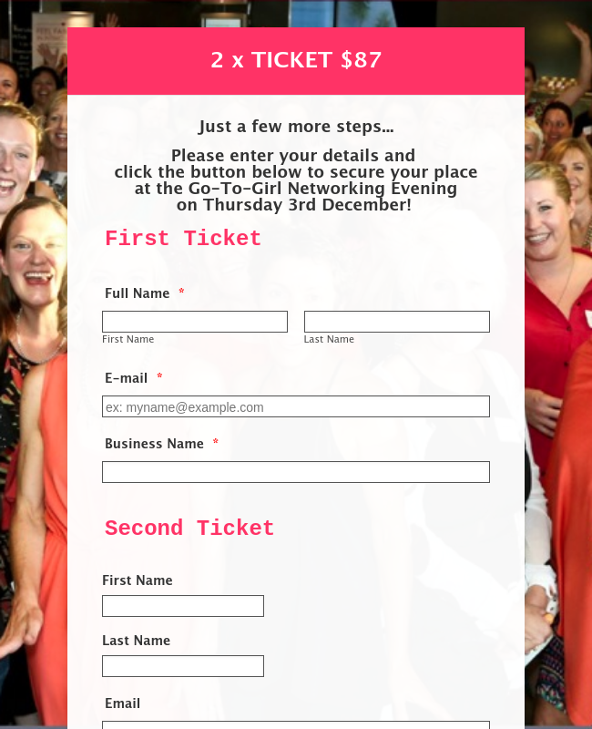 GoToGirl_Networking_Dec2015 - 2x Ticket