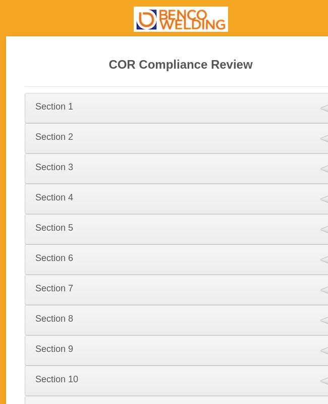 COR Compliance Review