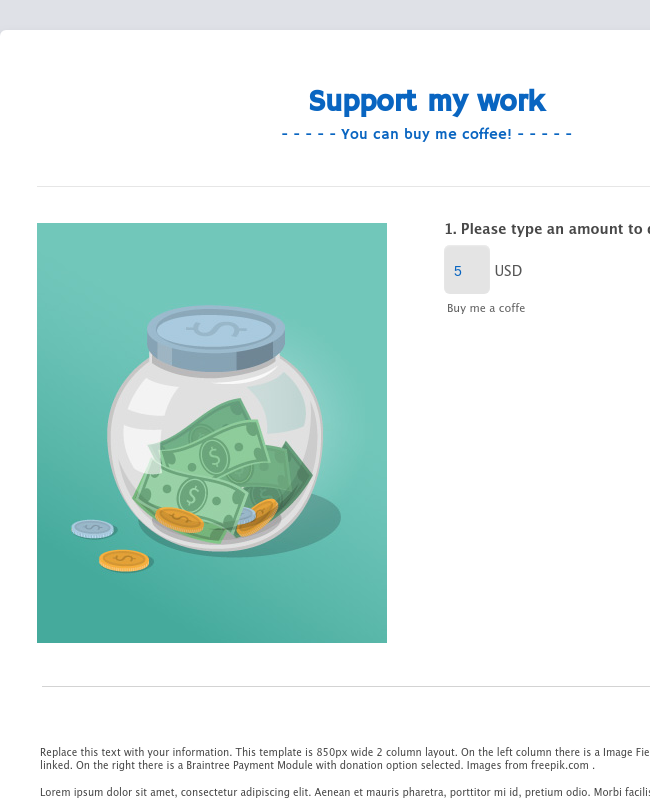 Braintree - Donation Template