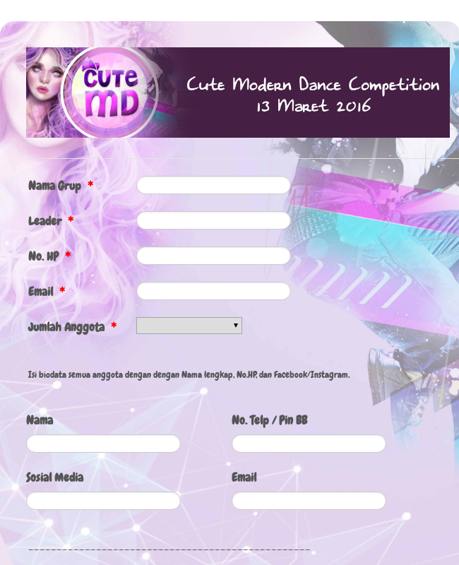 Cute Modern Dance Competition