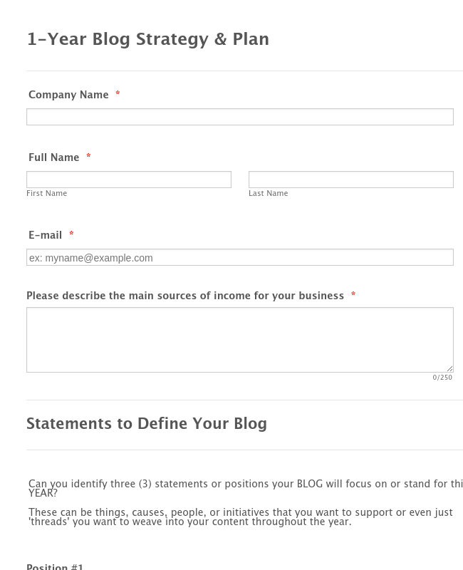 Sosblogplanner