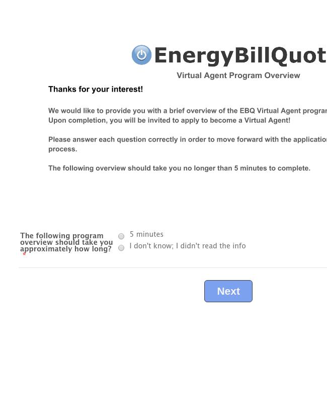 EnergyBillQuote Virtual Agent Overview