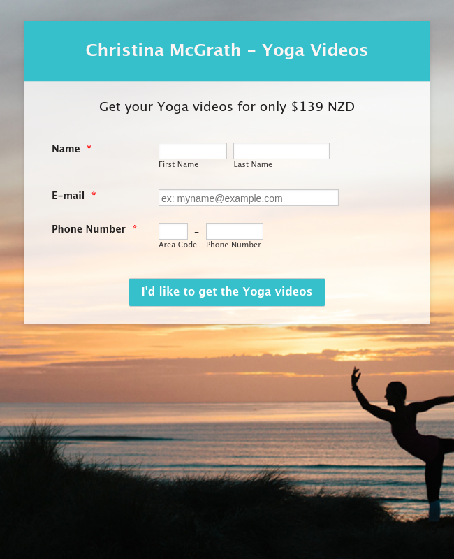 Christina McGrath - Yoga Videos - NZD