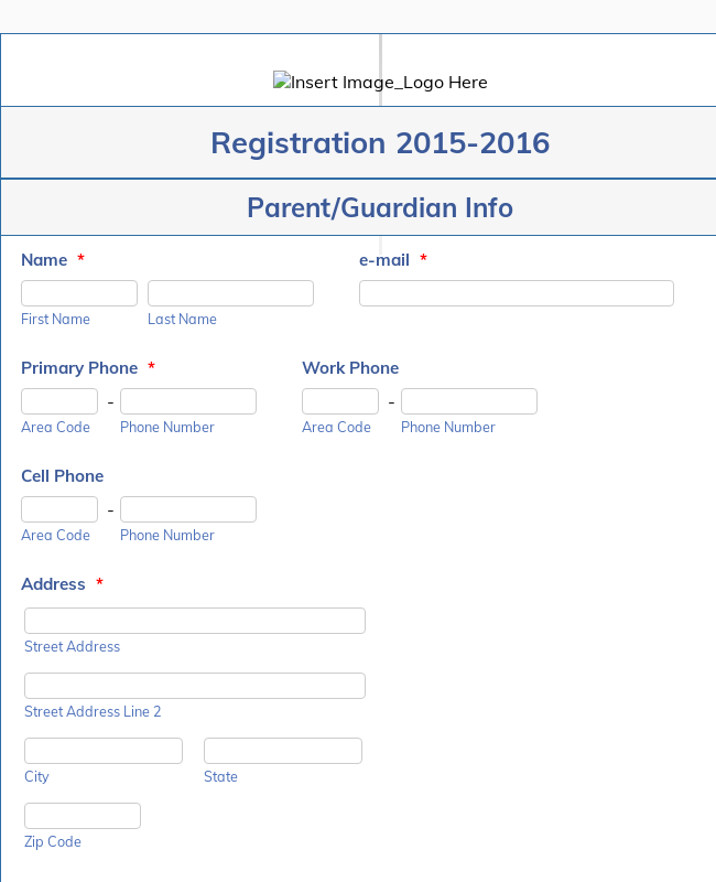 Clone Of 2015 2016 Student Registration Form