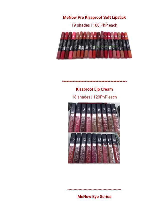 Makeup Order Form