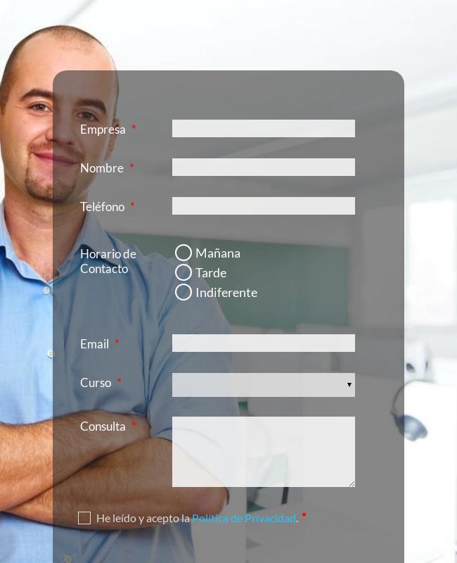 E Learning Registration Form Spanish