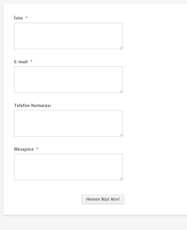 Tasarımcı İletişim Formu