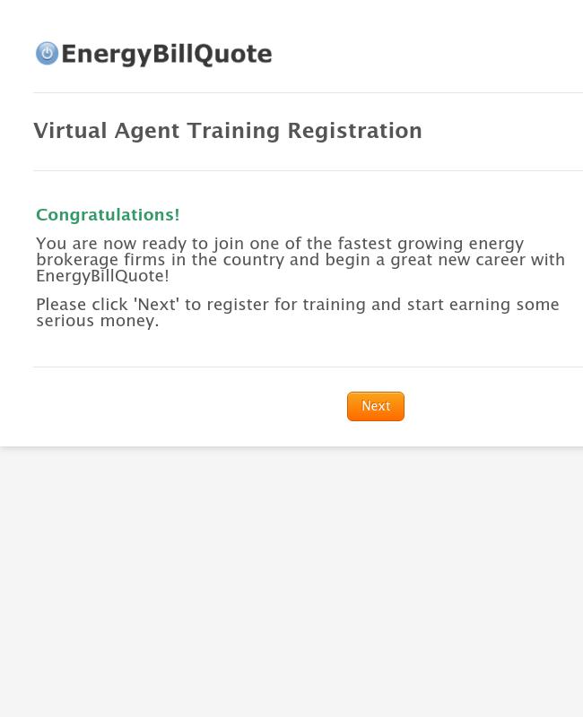 Virtual Agent Training Registration