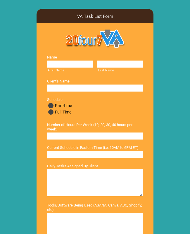 VA Info and Tasks List