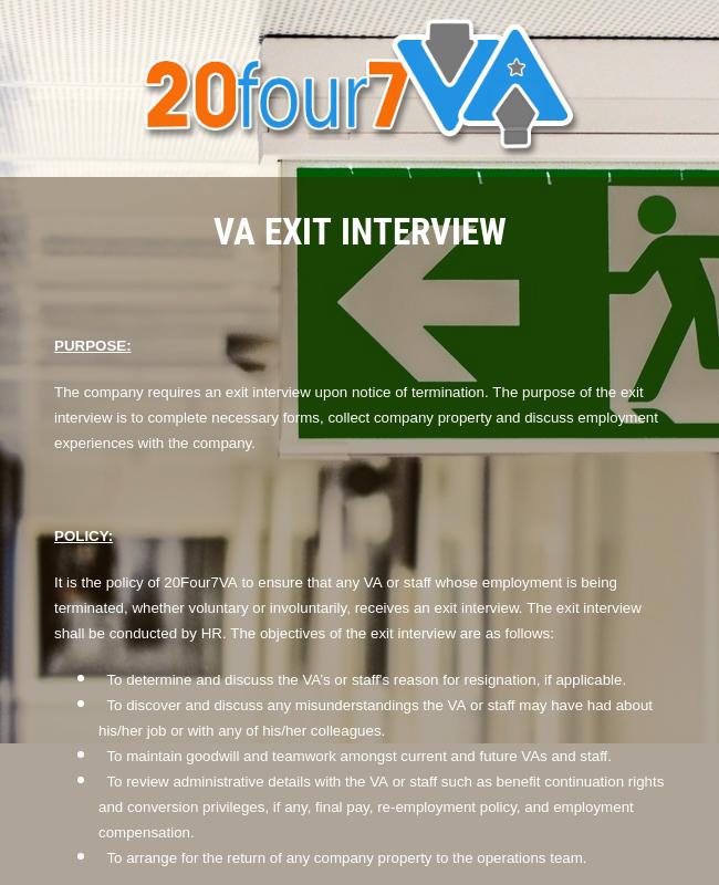 Exit Interview