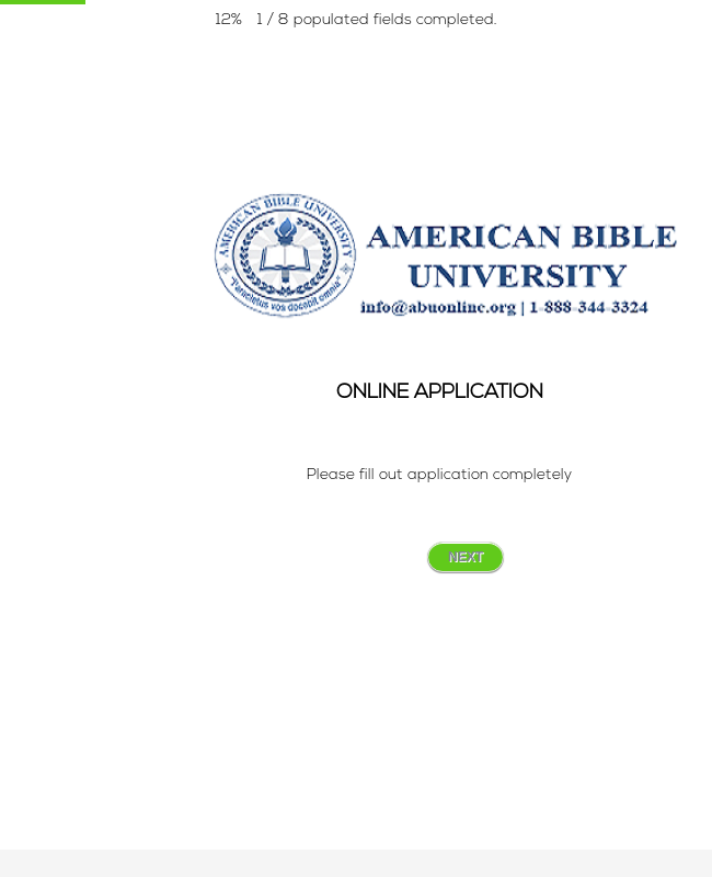 American Bible University -  Online Application